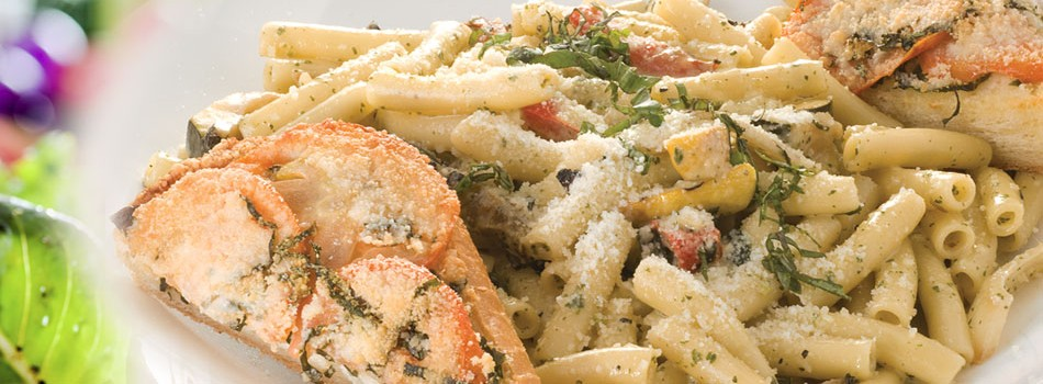 "<a href=""http://www.breakfasthouse.com/pastas/""><b>PASTAS</b></a><p>All pasta dishes are served with fresh brochette baked with Parmesan</p>"